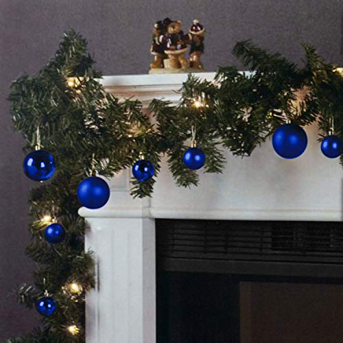 Wohaga Weihnachtsgirlande Tannengirlande Lichterkette 270cm 180 Spitzen 20 Lampen 16...