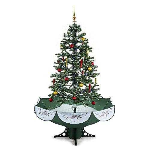 OneConcept Everwhite - künstlicher Weihnachtsbaum, Christbaum, Tannenbaum, Schneefallsimulation,...