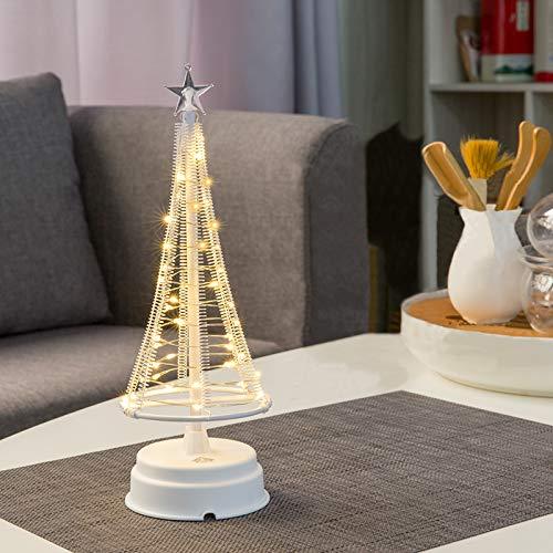 HONESTY Mini Weihnachtsbaum 10 Zoll 40 LED, dekorative Leuchten für Zuhause / Dekoration...