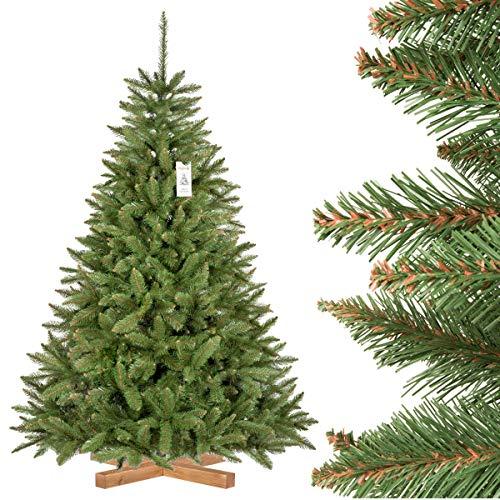 FairyTrees Weihnachtsbaum künstlich FICHTE Natur, grüner Stamm, Material PVC, inkl....