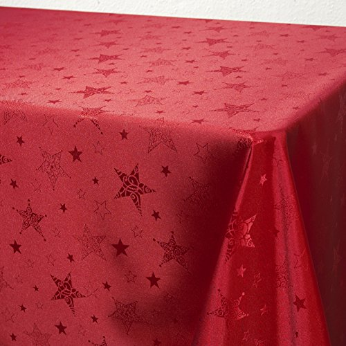 Kamaca Lotus Effekt Tischdecke Magic Stars mit Sternen Motiv - mit FLECKSCHUTZ -...