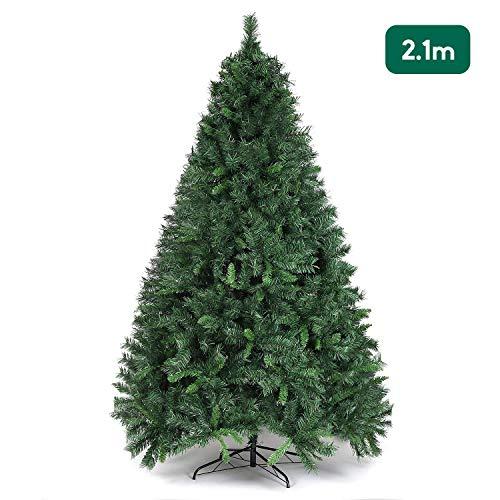 SALCAR Weihnachtsbaum künstlich 210 cm mit 868 Spitzen, Tannenbaum künstlich regenschirmsystem...