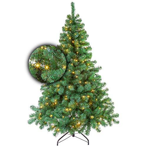 Excellent Trees Künstlicher Weihnachtsbaum Tannenbaum Christbaum Grün LED Stavanger...
