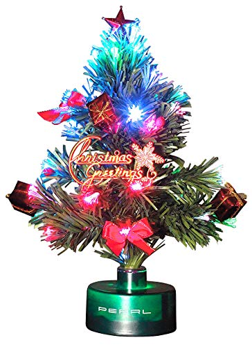PEARL LED Weihnachtsbaum klein: LED-Weihnachtsbaum mit Glasfaser-Farbwechsler (Mini...