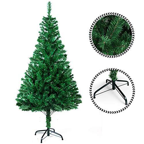 SunJas Weihnachtsbaum, 120/150/180/210 cm Grün, künstlicher Tannenbaum, schwer entflammbar und...