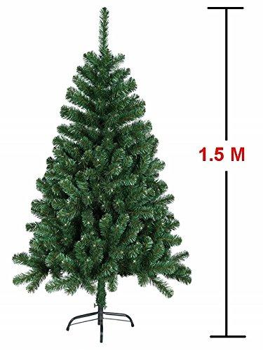 MCTECH Festive Künstlicher Weihnachtsbaum mit Ständer Andere Größe- Farbe: Grün PVC Dekobaum...