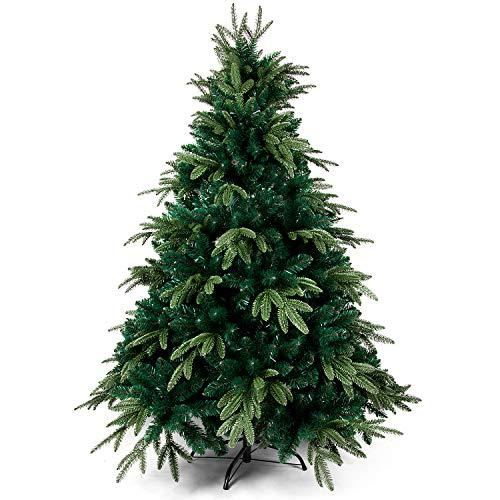 OZAVO Künstlicher Weihnachtsbaum 120 cm hoch, PE Spritzguss und PVC Mix Tannenbaum mit...