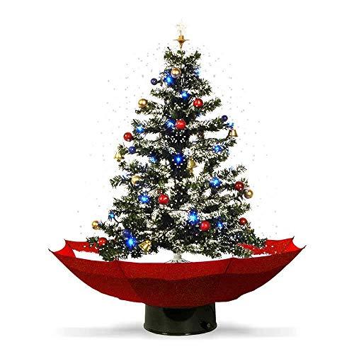 Monsterzeug Schneiender LED Weihnachtsbaum, künstlicher Deko Christbaum der schneit mit...