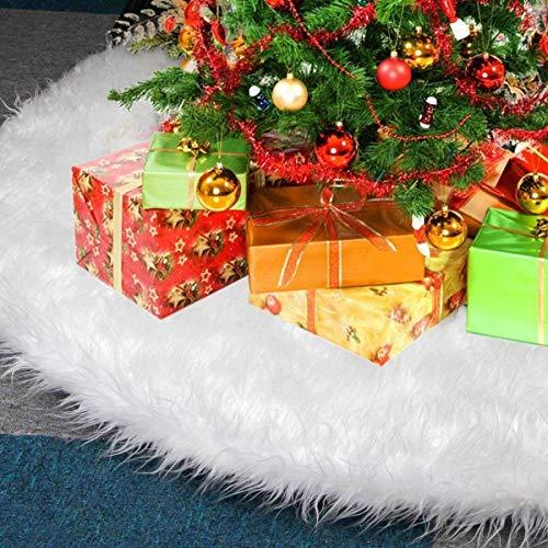 KAHEIGN 78CM Weihnachtsbaum Decke Weiß Weihnachtsbaum Rock, Runde Form Christbaumständer...