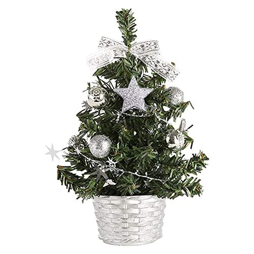 AmazingDays Mini-Weihnachtsbaum Deko Künstliche Weihnachtsbäume Geschmückter Christbaum...