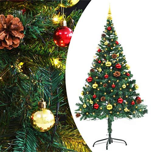 vidaXL Künstlicher Weihnachtsbaum Geschmückt 150cm Grün Christbaum Tannenbaum