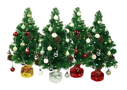 HAAC künstlicher Weihnachtsbaum Farbe grün geschmückt 50 cm mit 20er Lichterkette...