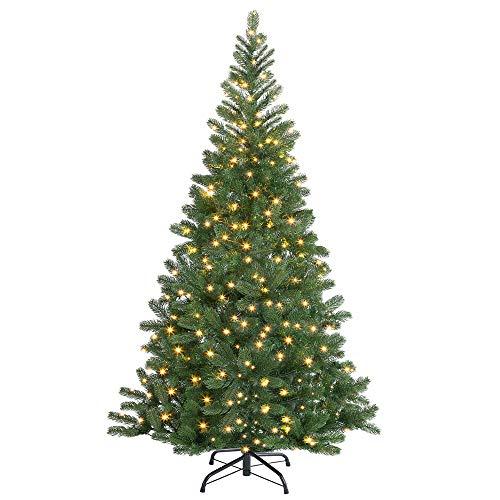 Casaria Weihnachtsbaum 140 cm LED Lichterkette Edeltanne Ständer künstlicher Tannenbaum...