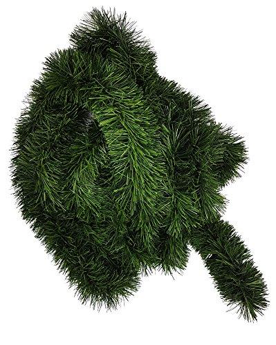 Ilkadim 1 Stück Tannengirlande 5 oder 10m lang, Dekogirlande 8-10cm, Girlande Weihnachten...