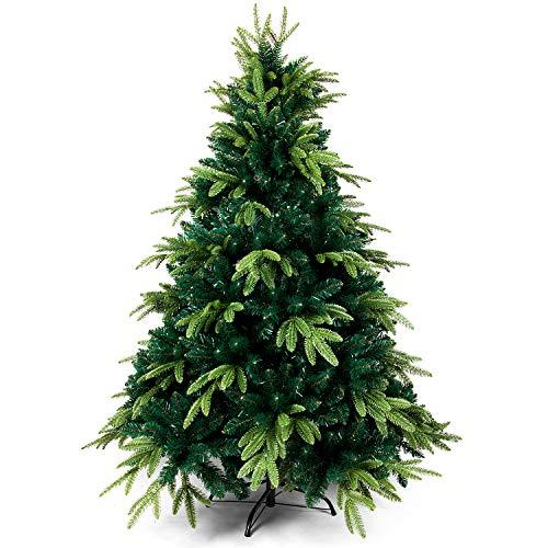 OZAVO Spritzguss Weihnachtsbaum 180 cm, Tannenbaum künstlich, PE - PVC Nadel Mix...
