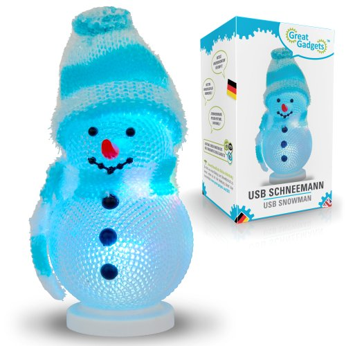 Splash Brands GreatGadgets 3201 USB Schneemann mit Farbwechsel