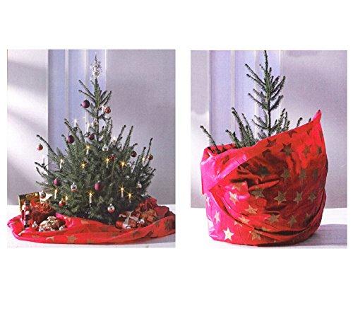 2in1 Weihnachtsbaum Weihnachtsbaumdecke Entsorgungsbeutel Christbaumhülle