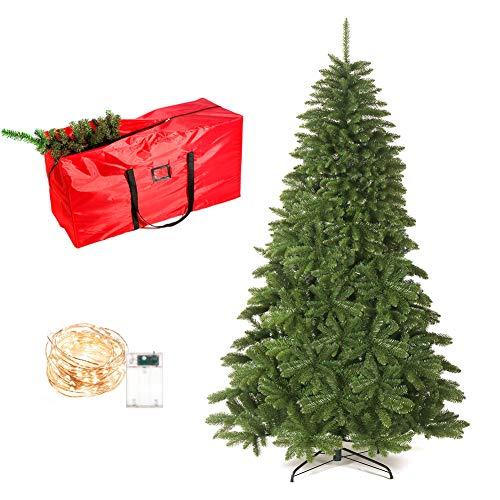 UHAPEER Künstlicher Weihnachtsbaum, Künstliche Weihnachtsbäume 1.8m 1000 Filialen, PVC...