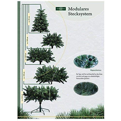 PROHEIM Weihnachtsbaum 180 cm Voll-PE Premium Christbaum inklusive Standfuß - künstlicher...