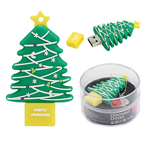 4 GB USB-Stick Super Cute Christmas Tree USB-Stick - Cartoon USB 2.0 Memory Stick Datenspeicher...