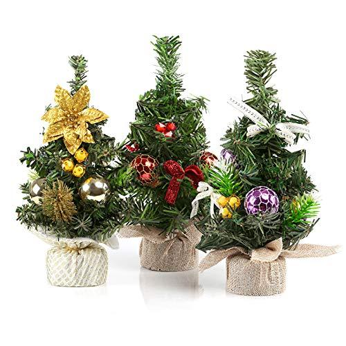 Kesote 3X Weihnachtsbaum Künstlich Klein Tannenbaum Geschmückt Christbaum Mini...