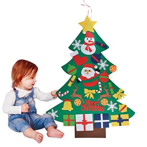 Dekorativer Weihnachtsbaum aus Filz für Kinder