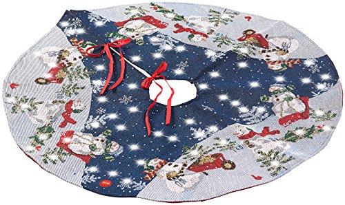 Lunartec Tannenbaumdecke: Hochwertige Weihnachtsbaum-Ständer-Decke mit LED-Lichtern,...