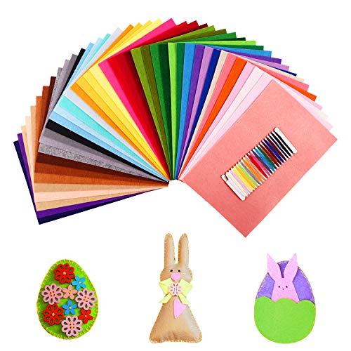 SOLEDI 41 Farben Filzstoff Weich Filztuch Geeignet für Nähen, 20 * 30cm Felt Fabric...