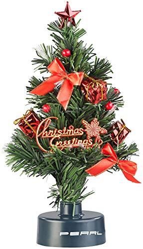 PEARL USB Tannenbaum: USB-Weihnachtsbaum mit LED-Farbwechsel-Glasfaserlichtern...