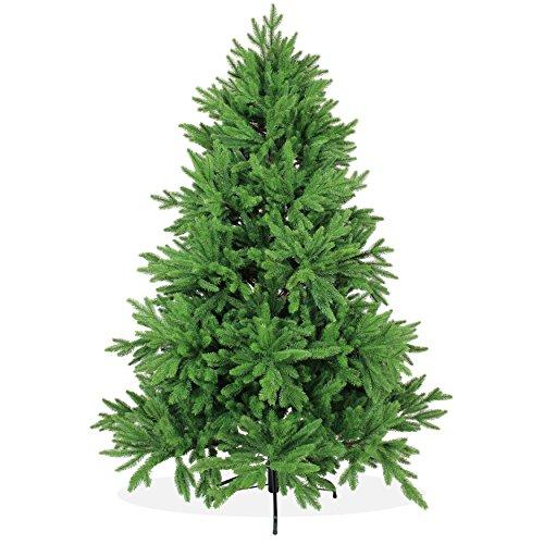DekoLand Deluxe Pe Spritzguss Weihnachtsbaum künstlich 180 cm (Ø 135 cm) 842 Zweige (3670...