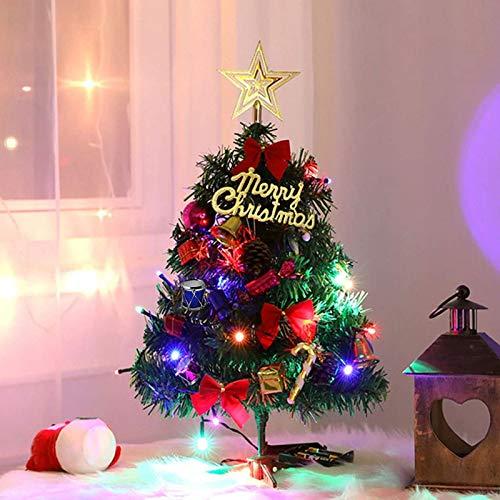Sunshine smile Mini Weihnachtsbaum,30 cm Mini Weihnachts Baum mit LED Lichterketten,Mini...