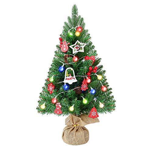 FRIDEKO HOME Spritzguss Weihnachtsbaum Mini künstlich Grün 60cm Tannenbaum Kiefernadel...