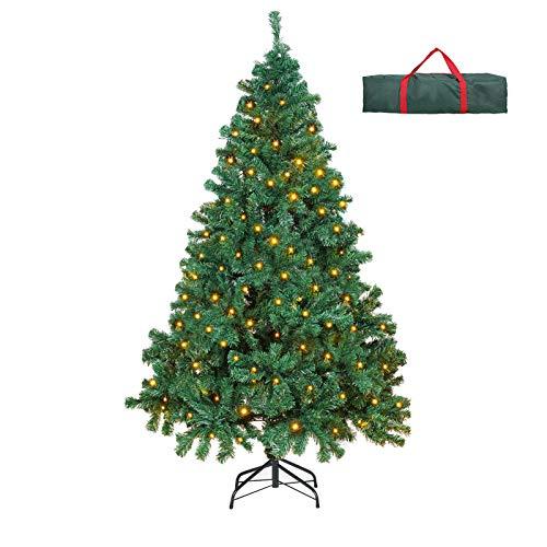 OUSFOT Weihnachtsbaum Künstlich 182cm 800 Äste mit 400er LED Lichterkette 8...