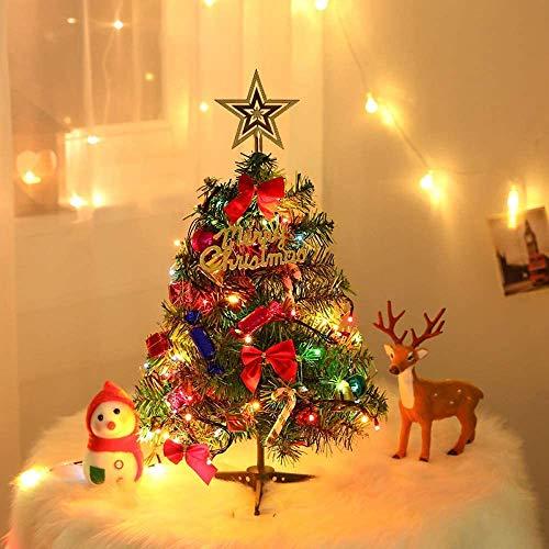 Weihnachtsbaum 60cm, Künstlicher Weihnachtsbaum mit Ornamenten, Tannenbaum für...