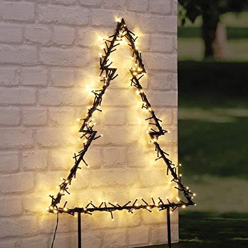HI LED Gartenstecker Tannenbaum mit 175 warmweißen LEDs Weihnachtsbaum Christbaum...