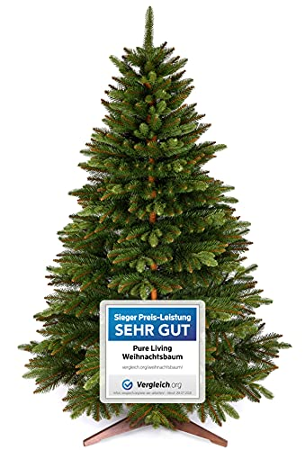 Weihnachtsbaum künstlich 180cm – Naturgetreu, Besonders dichte Zweige, einfacher...