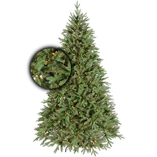 Excellent Trees Künstlicher Weihnachtsbaum Tannenbaum Christbaum grün LED Ulvik 180 cm...