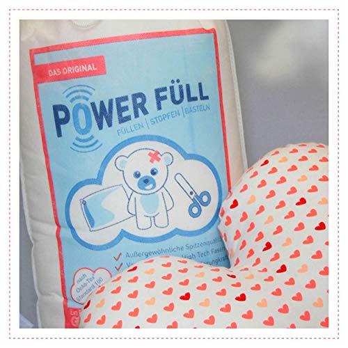 Füllwatte Power Füll 1kg Ökotex antiallergisch waschbar 95°C hochflauschig...