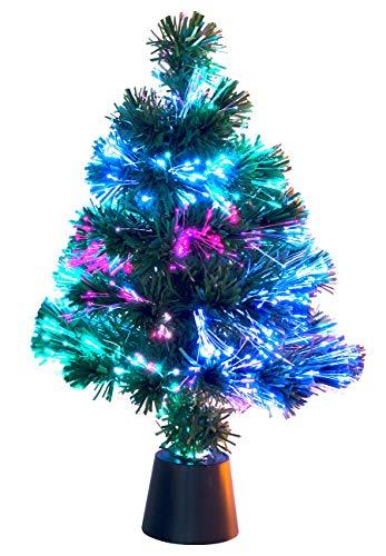 Lunartec Glasfaser Weihnachtsbaum: Deko-Tannenbaum, dreifarbige LED-Beleuchtung,...