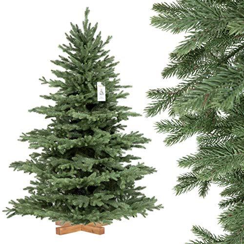 FairyTrees künstlicher Weihnachtsbaum ALPENTANNE Premium, Material Mix aus Spritzguss &...