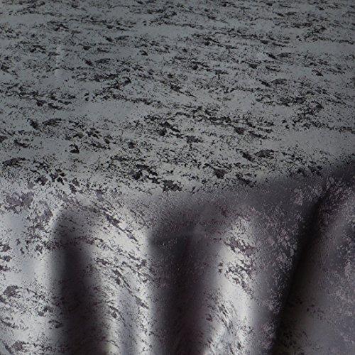 DecoHomeTextil Jacquard Tischdecke Granit Tischdecke Rund Grau 140 cm Meliert mit Lotus...