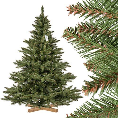 FairyTrees künstlicher Weihnachtsbaum NORDMANNTANNE, grüner Stamm, Material PVC, inkl....