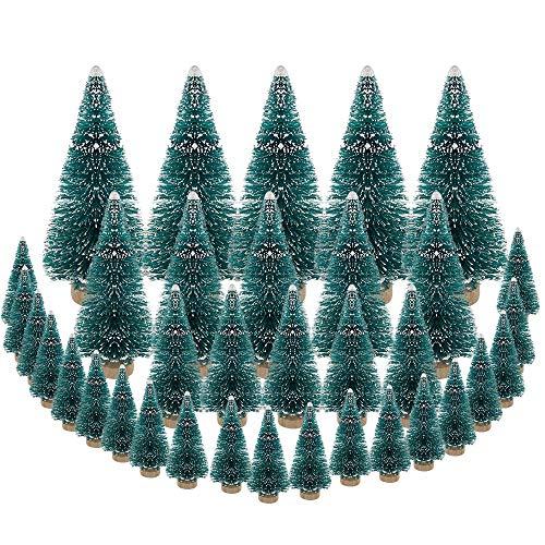 DECARETA 35 Stück Künstlicher Weihnachtsbaum, Mini Grün Tannenbaum, 4.5/6.5/8.5/12.5cm...