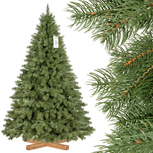 FairyTrees künstlicher Weihnachtsbaum KÖNIGSFICHTE Premium, Material Mix aus Spritzguss...