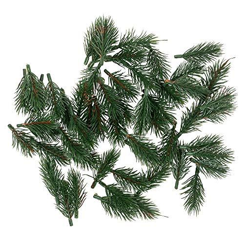 Deko-Tannenzweige | grün | 6,5 cm lang | 55 Stück | künstliche Tannenzweige |...