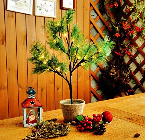 CCLIFE Mini LED Lichterbaum Weihnachtsbaum klein Künstlicher Tannenbaum mit LED...