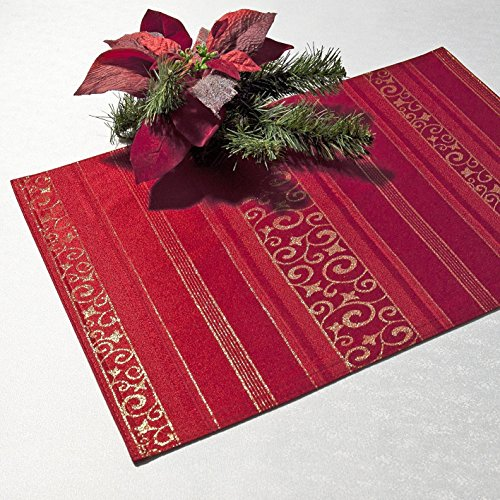 Kamaca 2er Set Tischsets/Platzsets Magic Moments in rot - Größe je 33x48 cm - EIN...