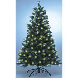 Künstlicher Weihnachtsbaum PE-Spritzguss mit Beleuchtung.