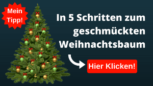 Künstlicher Christbaum Geschmückt in 5 Schritten