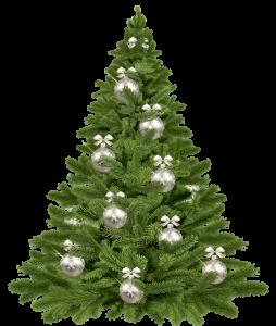 Weihnachten 2019, ein künstlicher Weihnachtsbaum.
